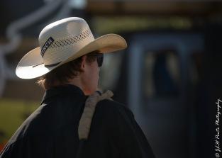 Bikes&Bulls bucking cowboy getting ready